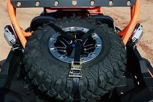 Pro-Armor-Adjustable-3-Way-Ratcheting-Spare-Tire-Tie-Down-Y-Strap-1-5-034-Inch-UTV