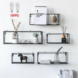 Wall-mounted-Hanging-Shelf-Storage-Shelf-Holder-Rack-Iron-Home-Cafe-Decor-Craft