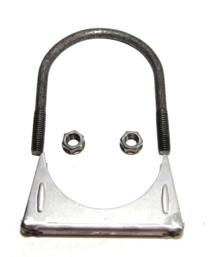 "For Universal 3.5/""  3 1//2/"" O.D.Exhaust Hanger Muffler U Bolt Clamp Mild Steel"