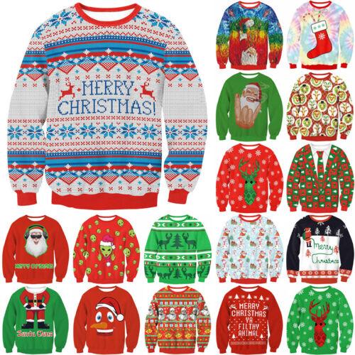 Christmas Costume Print Womne Men 3D Hoodie Xmas Gift Sweatshirt Casual Pullover