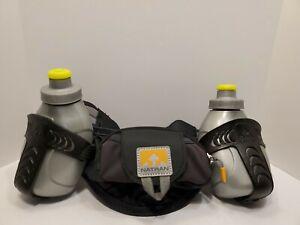 Nathan-Hydration-Belt-2-Water-Bottles-9oz-Each-Adjustable-Strap-Running-Hiking