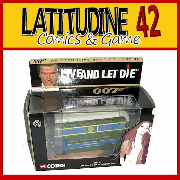 CORGI 007 JAMES BOND CAR REPLICA LIVE AND LET DIE LEYLAND DOUBLE BUS DIE CAST