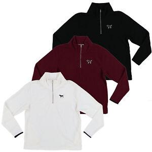 Victoria-039-s-Secret-Pink-Sweatshirt-Fleece-Quarter-Zip-Jacket-Top-Logo-New-Nwt-Vs