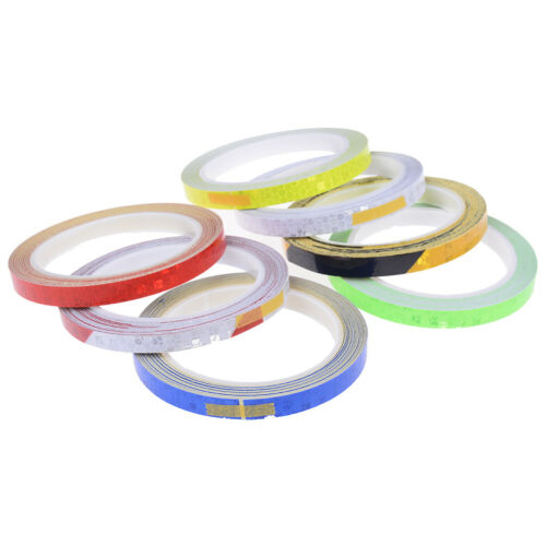 Bicycle Reflective Stickers Motorcycle Reflector Security Wheel Rim DecalTapeTDO
