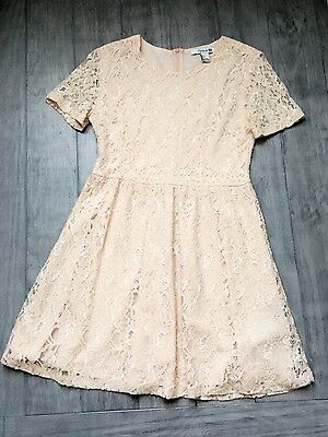 Forever 21 Women's Lace Dress(Cream,  US L/EUR L)
