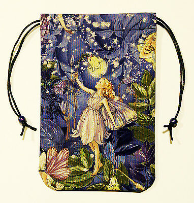"""Fairy Tarot Bag 5""""x7"""" - Guiding Light Drawstring Pouch for Runes, Oracle Cards"""