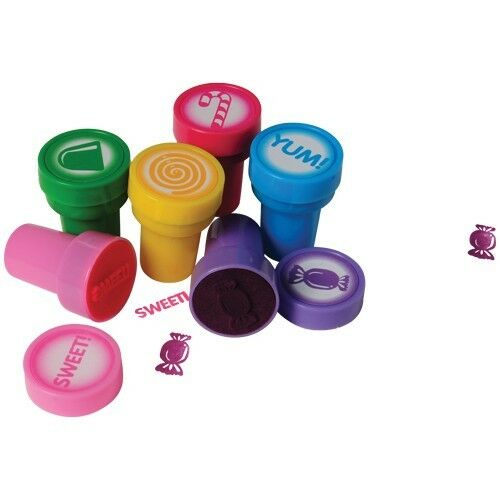 12 Candy Theme Ink Stampers Stamps Kid Party Goody Bag Pinata Favor Art Craft