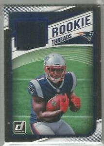 Sony-Michel-New-England-Patriots-Georgia-2018-Donruss-ROOKIE-THREADS-BLUE