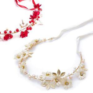 Cinta Floral Cadena Comunión Boda Cinta Pelo Tiara Diadema Corona ... 32582b8331b3