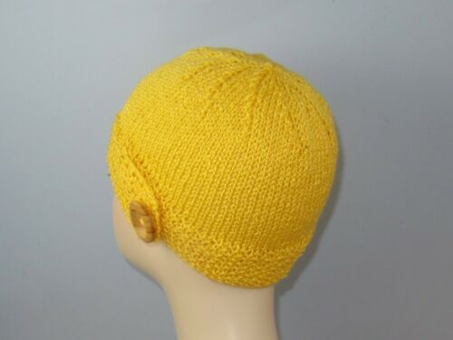 BUTTON UP BEANIE CIRCULAR HAT KNITTING PATTERN PRINTED KNITTING INSTRUCTIONS