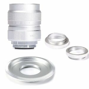 Silver-Fujian-25mm-F1-4-CCTV-TV-Movie-lens-C-Mount-for-Sony-Nex-Adapter-bundle