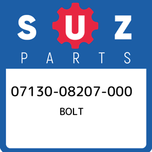 07130-08207-000-Suzuki-Bolt-0713008207000-New-Genuine-OEM-Part