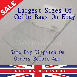 Cellophane-Clear-Self-Seal-With-Flap-Peel-amp-Seal-Large-Picture-Cello-Display-Bag