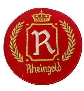 "Vintage Rheingold Beer 6"" Embroidered Iron On Jacket Patch NOS"