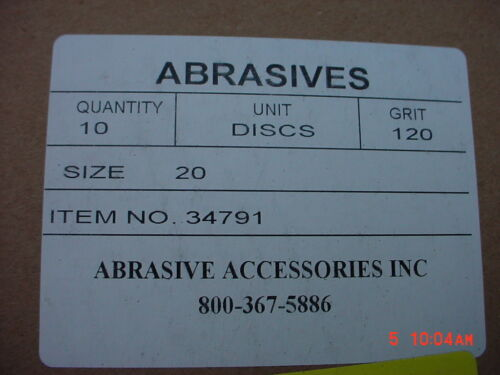 Abrasive  Accessories  20 inch Sanding Disc  120 Grit  10-Pack