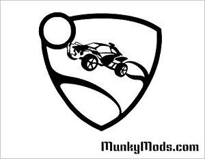 Rocket-League-Rev-Logo-Computer-Case-Window-Applique-Vinyl-Decal-Color-Choice