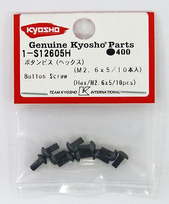 Kyosho 1-S12605H Button Screw(Hex/M2.6x5/10pcs)