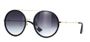 e205457b1230 Image is loading NEW-AUTHENTIC-GUCCI-GG0061S-001-GOLD-FRAME-GREY-