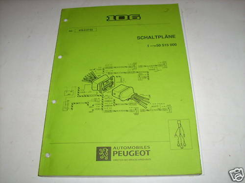 Workshop Manual Peugeot 106 Wiring Diagrams  Stand 1993