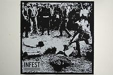 Infest Back Patch (BP28) Crust Punk Doom Dirt Aus Rotten Negative Approach