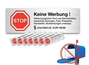 96x Aufkleber Schild Sticker Keine Werbung Kostenlose