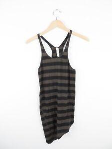 Women-039-s-Lululemon-Brown-amp-Black-Striped-Workout-Tank-Top-Shirt-Size-4