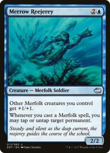 ***4x Merrow Reejerey*** MINT Duel Decks Merfolk vs Goblins MTG Magic Cards