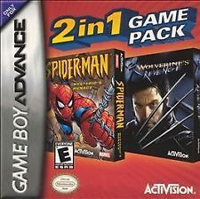 2 in 1 Game Pack: Spider-Man: Mysterio's Menace/X2: Wolverine's Revenge GBA NEW