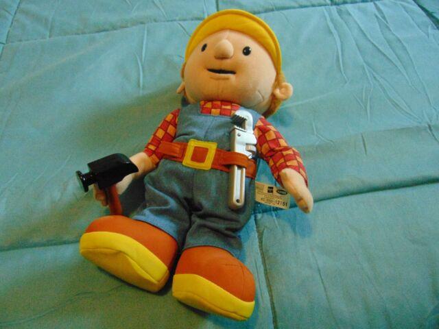 Bob the Builder Talking BOB Plush Figure Toy 2001 Hasbro ...