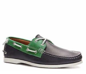 91df4d3113 Ralph Lauren Collection Telford II Leather Color Block Boat Shoe ...