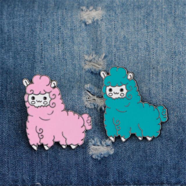 Sheep Enamel Pin Icon Collar Brooches Lapel Pin Brooch Clothing Bag Accessory FF