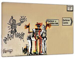 2019 DernièRe Conception Banksy London Barbican Salles D'exposition Art Imprimé Sur Encadrée Toile Wall Art-afficher Le Titre D'origine PréVenir Le Grisonnement Des Cheveux Et Aider à Conserver Le Teint