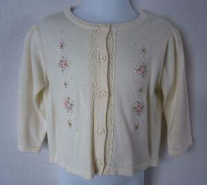 df2ec1916 Vintage Gymboree Baby Girls 12 18 Months Sweater Cardigan Cream ...