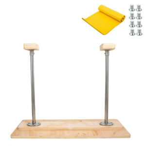 fixed handstand canes yoga headstand bench mdf feet up