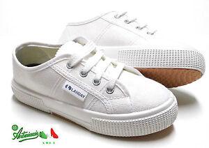 Scarpe-sportive-economiche-modello-Superga-tela-bianca-gomma-TENNIS-RECITE-SAGGI