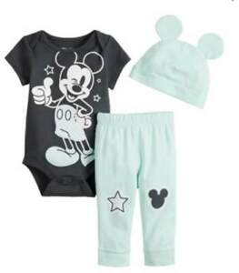 DISNEY-MICKEY-MOUSE-3-PIECE-BABY-OUTFIT-SIZE-NB-3-6-9-12-18-MONTHS-NEW