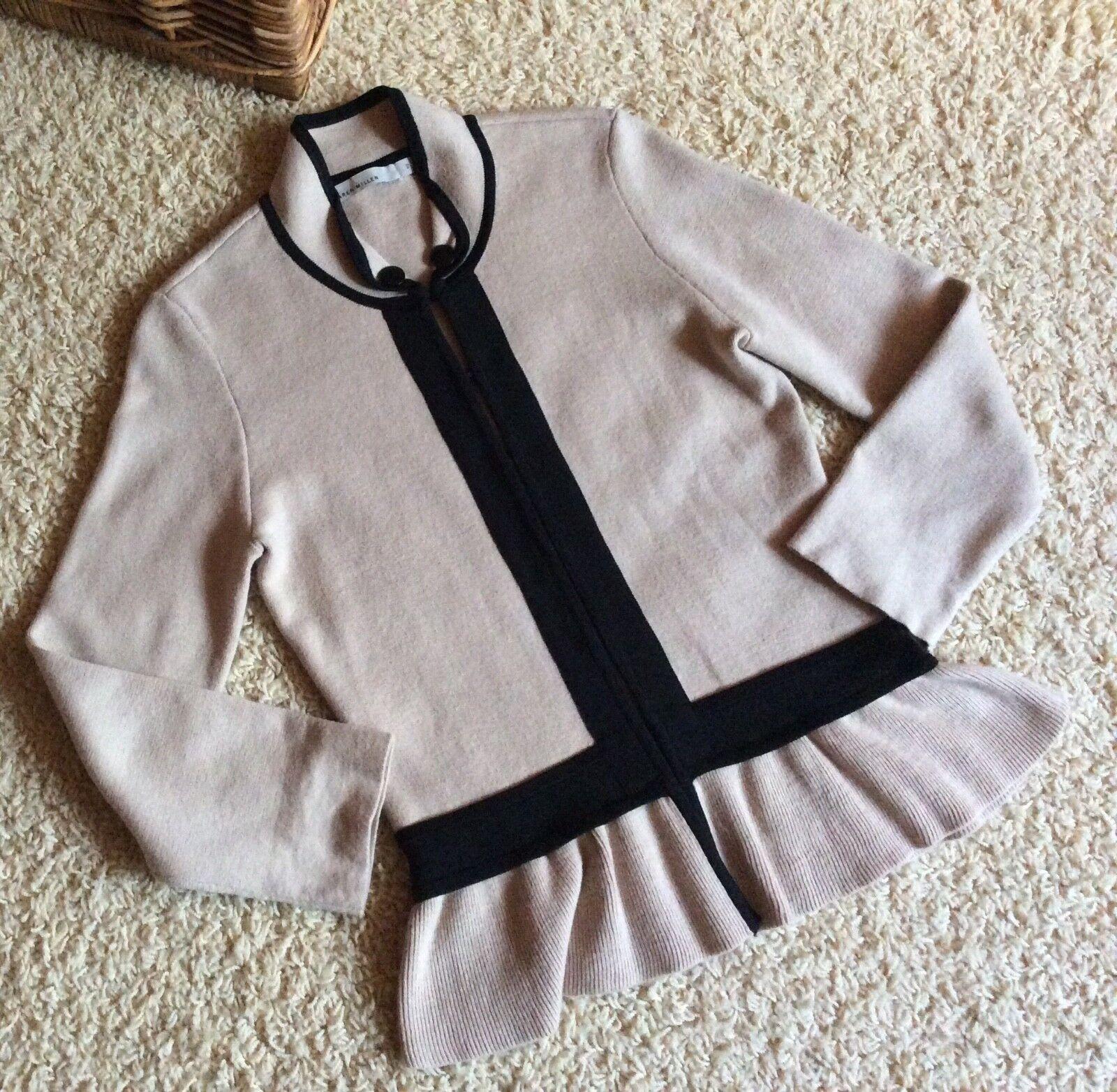 Karen Millen Knit Cardigan jumper oben Größe 2 , uk 10-12 = s -m