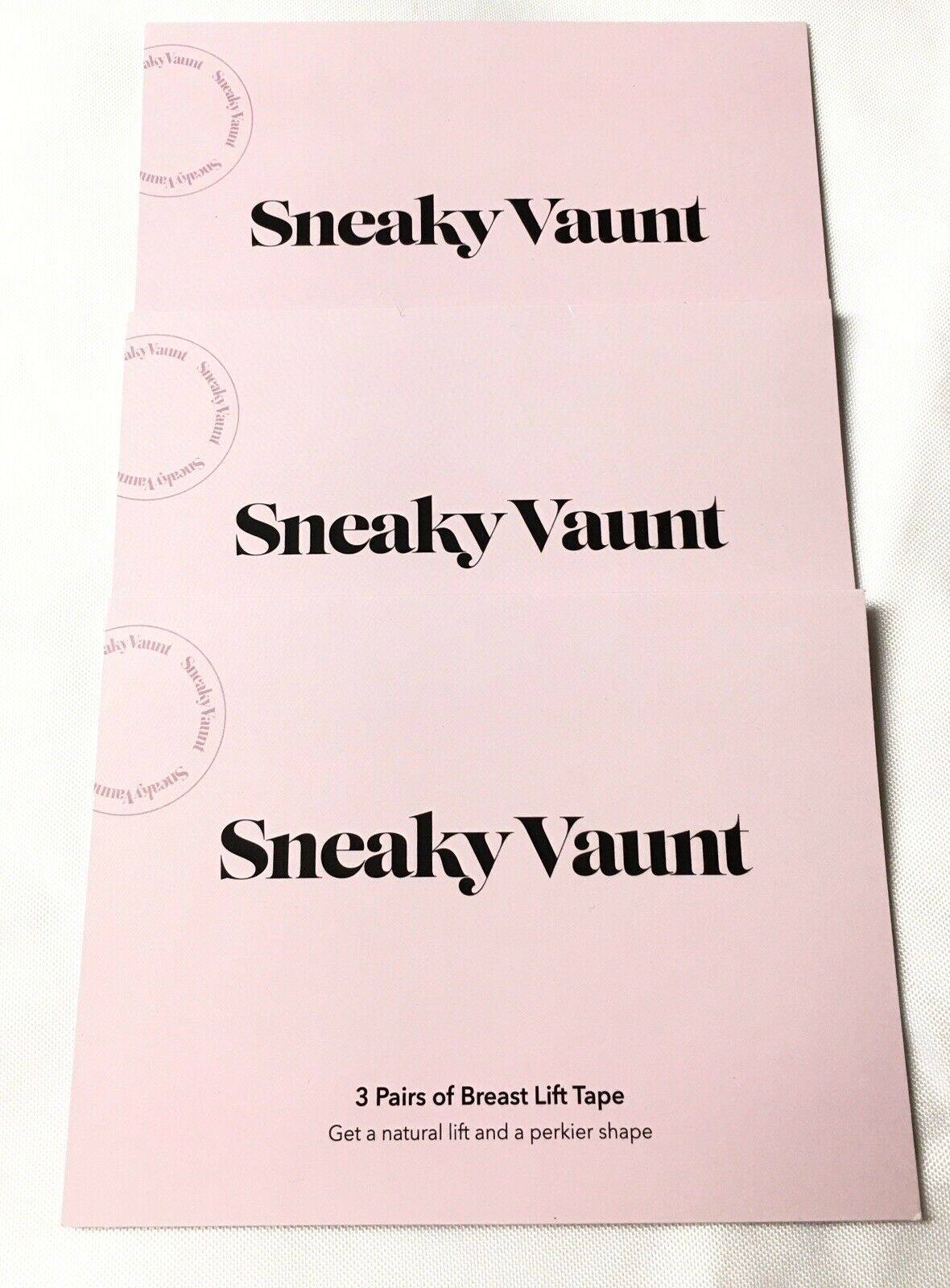 NEW Sneaky Vaunt Lot Of 3 With 3Pairs of Breast Lift Tape Each