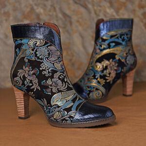 SOCOFY-Women-Leather-Ankle-Boots-Ladies-Elegant-Heels-Embossed-Splicing-Shoe-Zip
