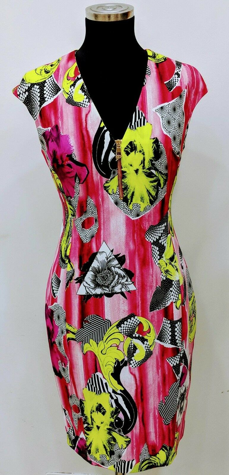 NWT Versace Collection Print Sheath BAROQUE Dress MADE IN ITALY 10 US LUXURY