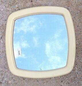 Specchio Bagno Anni 70.Dettagli Su Eccezionale Specchio Da Bagno Anni 70 Con Cornice In Plastica Bianca