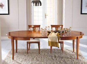 Tavolo Legno Laccato.Dettagli Su Tavolo Legno Tanganica Rotondo Ovale Allungabile Colore Noce Laccato Bianco 603