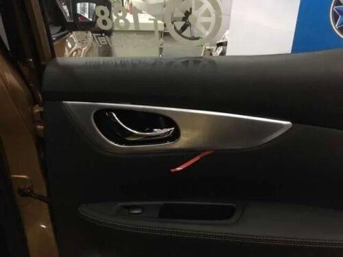 For Nissan Qashqai J11 2014-2017 4 PCS ABS Chrome Interior Door Bowl  Cover Trim