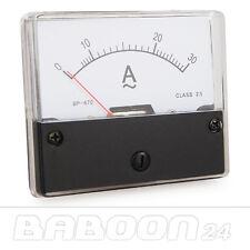 Einbau Messinstrument 0 - 30 A AC, Messgerät, Analog Amperemeter mit Shunt
