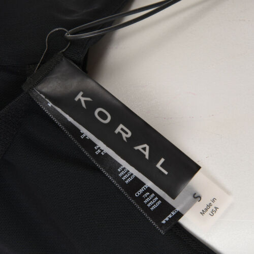 KORAL Sports Bra Inner Black Stretch Size Small RRP £105 BG 492