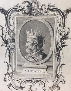 Very-Rare-Print-Original-Clotaire-I-18th-Anonymous-King-France-King