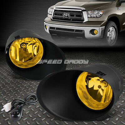 AMBER//YELLOW BUMPER FOG LIGHT LAMP+COVER+SWITCH FOR 07-13 TOYOTA TUNDRA//SEQUIOA