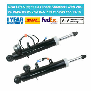 Pair Rear Suspension Gas Shock Absorbers VDC Fit BMW X5 X6 X5M X6M F15 F16 F85