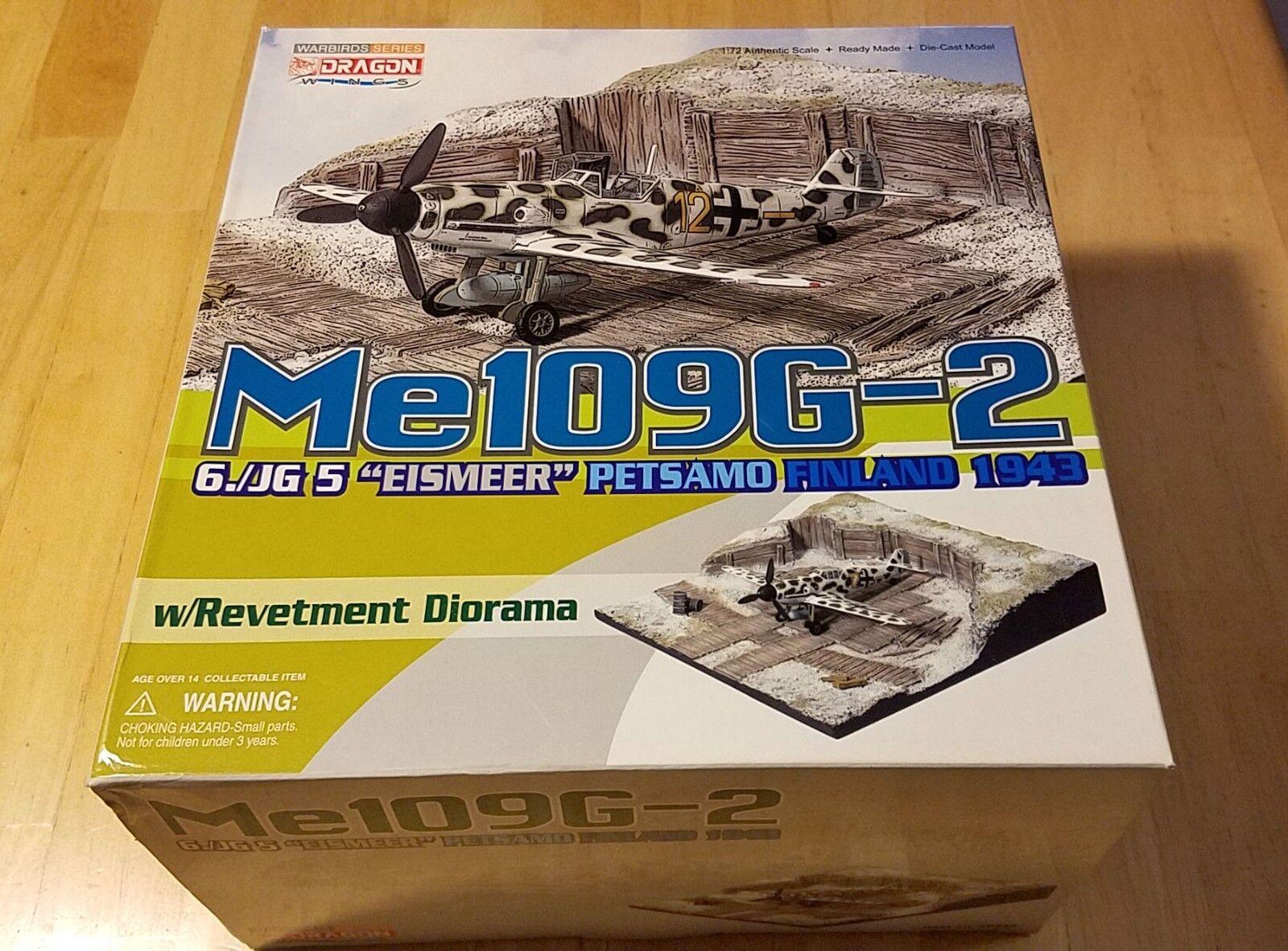 Dragon 1 72 Me109G Finland with Revetment Diorama RARE NEW 50333