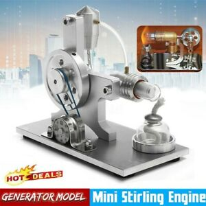 Silver-Mini-Hot-Air-Stirling-Engine-Motor-Model-Generator-Educational-Toy